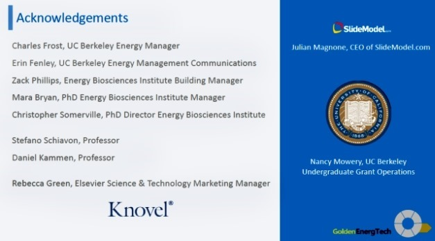 Acknowledgements From Golden EnergTech