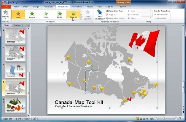 Add Animation Effects To Canadian Map
