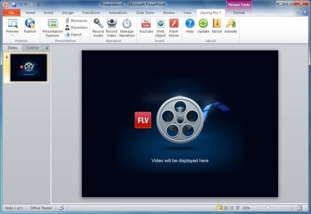 Add Flash Videos in PowerPoint