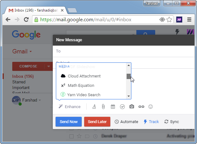 Add additional features to Gmail
