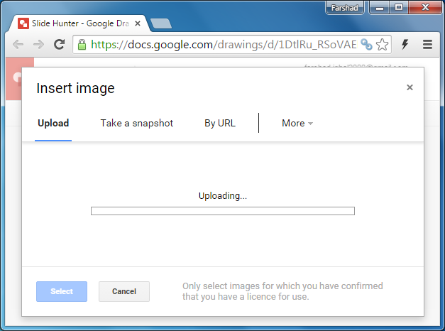 Add images to Google Drawings