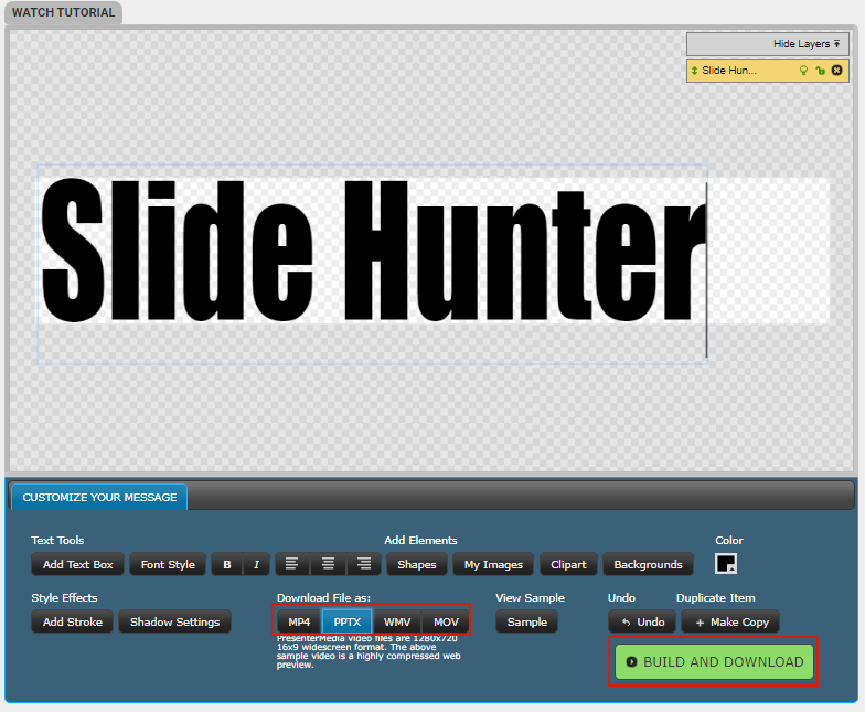 Add text to blacksmith animation for PowerPoint