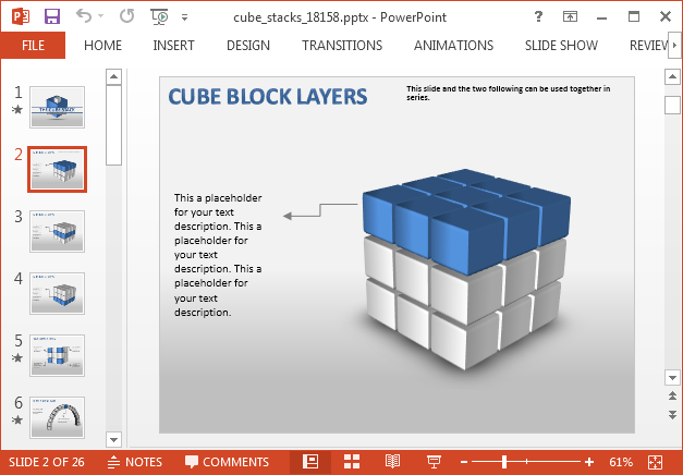 Animated 3D cubes for PowerPoint