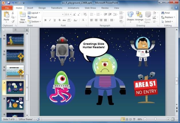 Animated Alien PowerPoint Template
