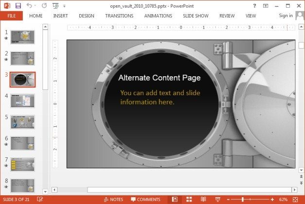 Animated Bank templates for PowerPoint