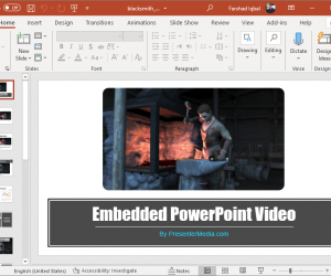 Animated Blacksmith forging text PowerPoint template
