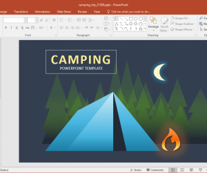 Animated Camping Trip PowerPoint Template