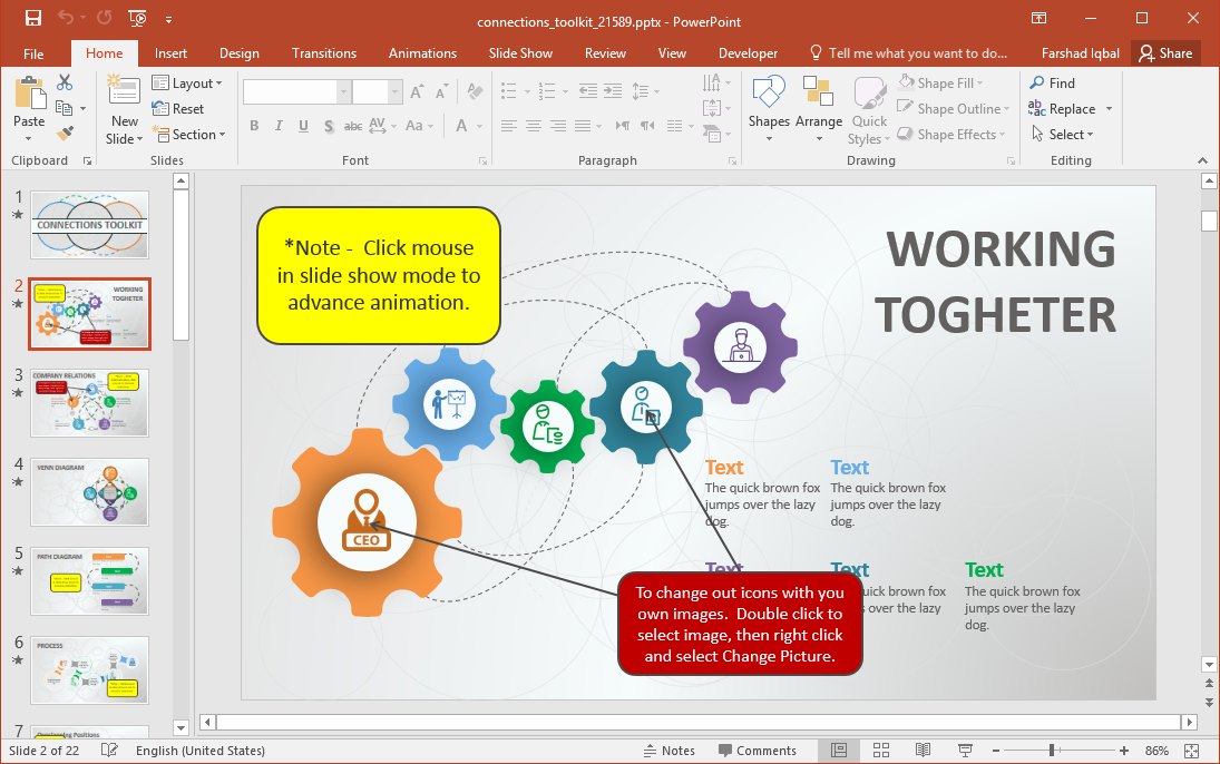Animated Connections PowerPoint Template