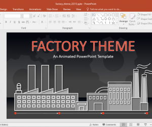 Animated Factory Theme PowerPoint Template