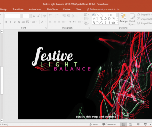 Animated Festive Lights New Year PowerPoint Template