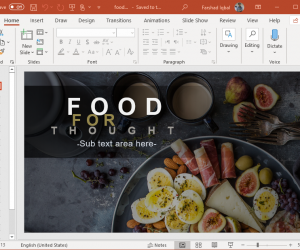Animated Food for Thought PowerPoint Template