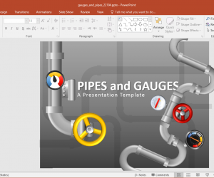 Animated Gauges And Pipes PowerPoint Templates