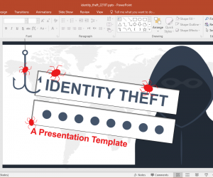 Animated Identity Theft PowerPoint Template