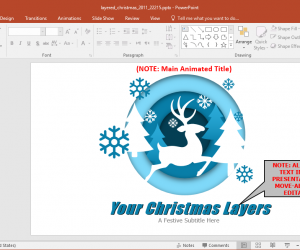 Animated Layered Christmas PowerPoint Template