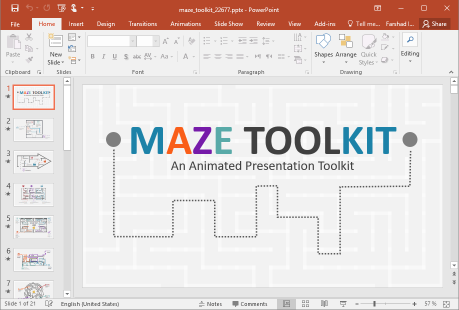 Animated Maze Toolkit for PowerPoint