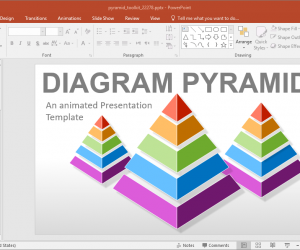 Animated Pyramid Diagrams PowerPoint Template