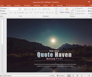 Animated Quote Haven PowerPoint Template