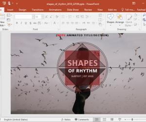 Animated Rhythm PowerPoint Template
