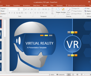 Animated VR PowerPoint Template