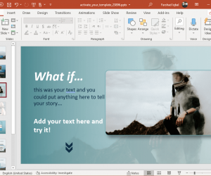 Animated activate your imagination powerpoint template