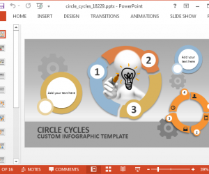 Animated circles for PowerPoint