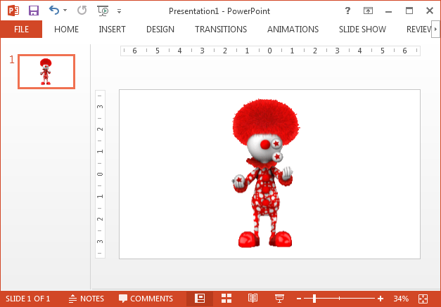 Animated clown clipart for PowerPoint