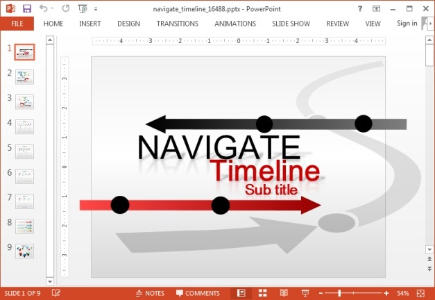 Animated custom timeline template for PowerPoint