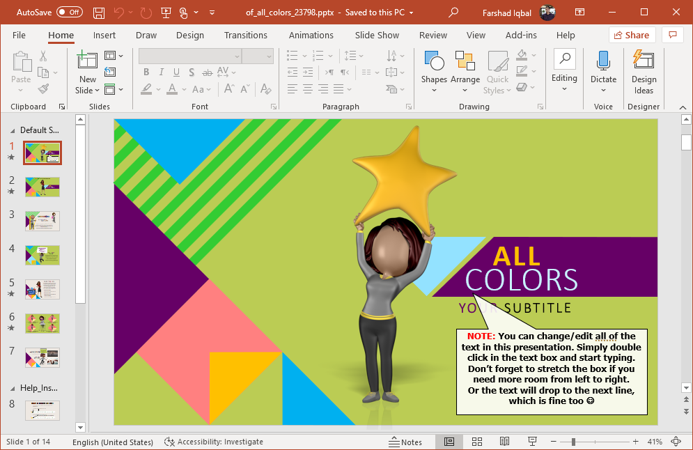 Animated diversity PowerPoint template