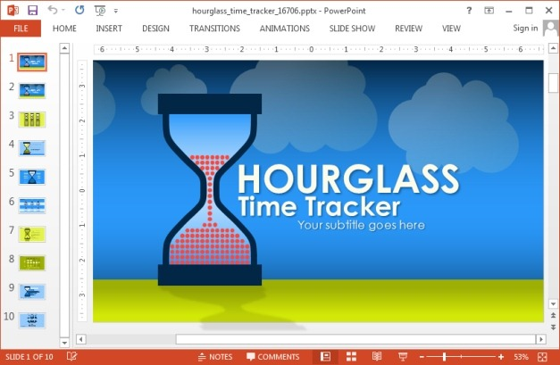 Animated hour glass template for PowerPoint