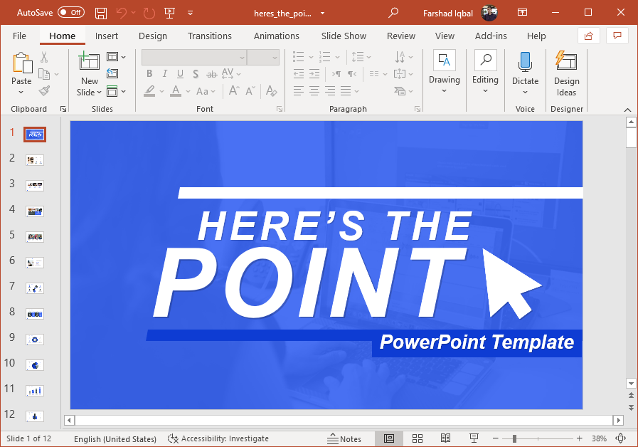 Animated make your point PowerPoint template
