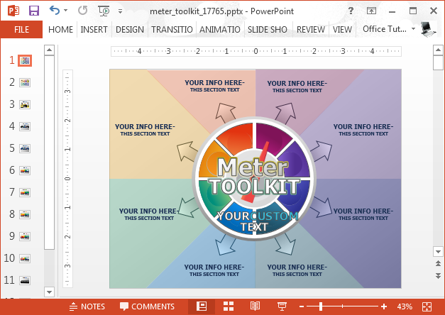 Animated meter toolkit for PowerPoint
