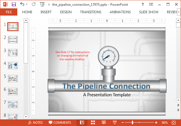 Animated project pipeline PowerPoint template