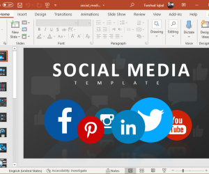Animated social media PowerPoint template