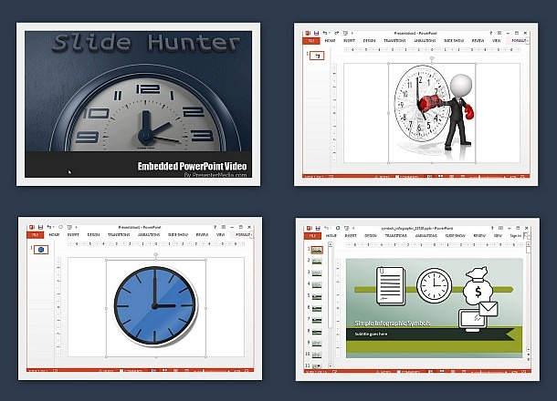 Animated time templates for PowerPoint