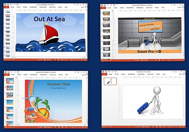 Animated vacation templates for PowerPoint