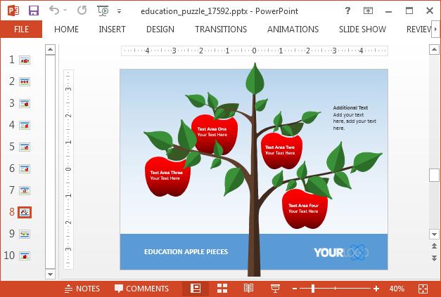 Apple tree slide design