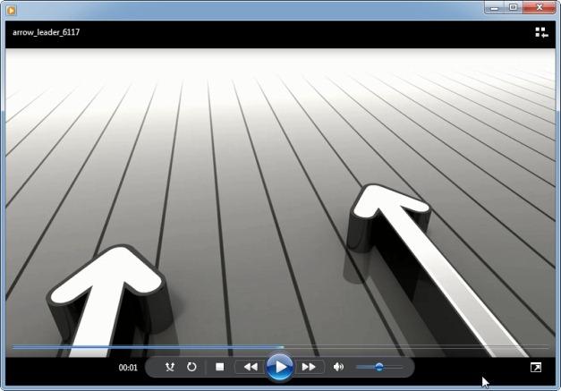 Arrow leader video template
