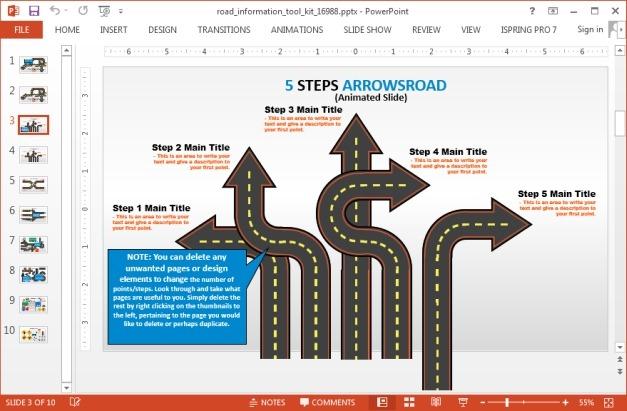 Arrow roads