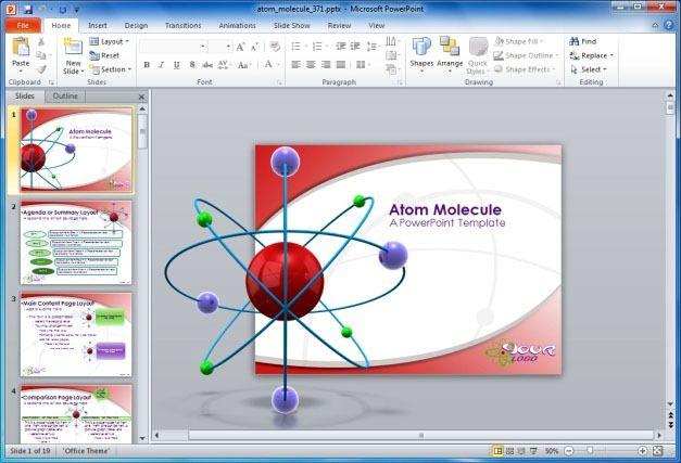 Atom Molecule PowerPoint Template
