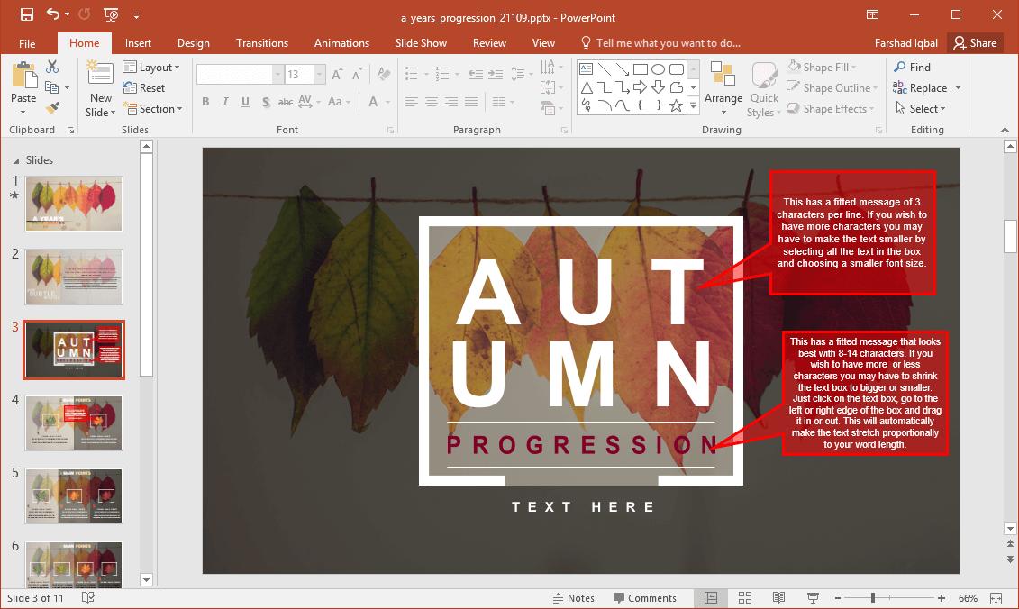 Autumn slide background