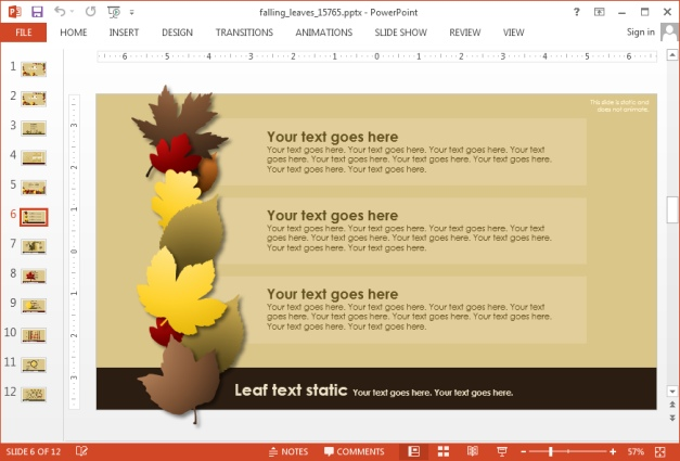 Autumn template for PowerPoint