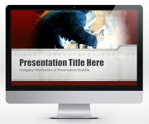 Widescreen Welding PowerPoint Template (16:9) with Red