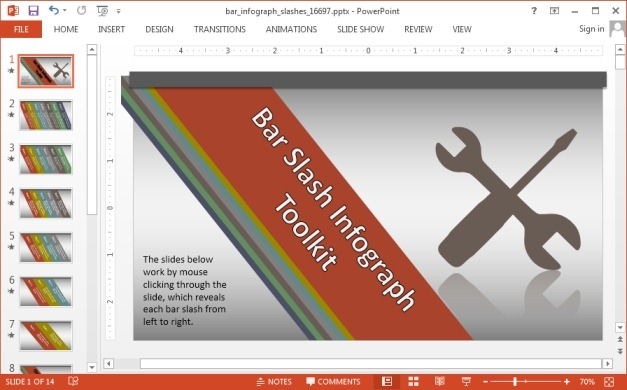 Bars infographic template for PowerPoint
