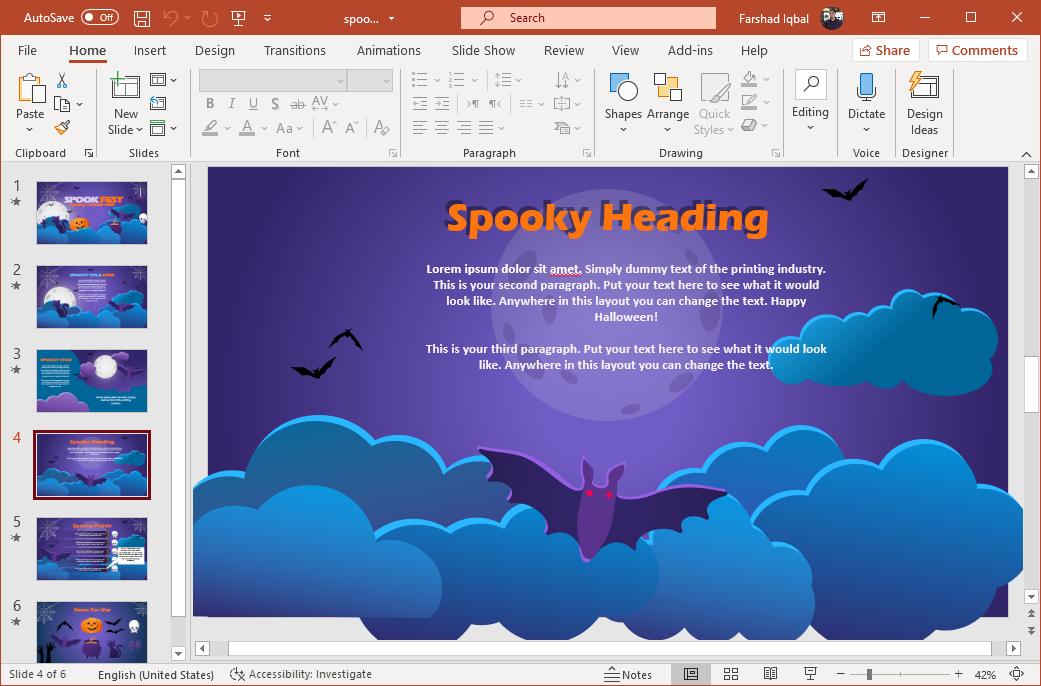 Bats animation for Halloween
