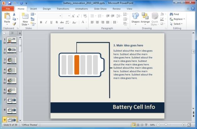 Battery Innovation Template