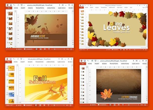Best animated autumn PowerPoint templates