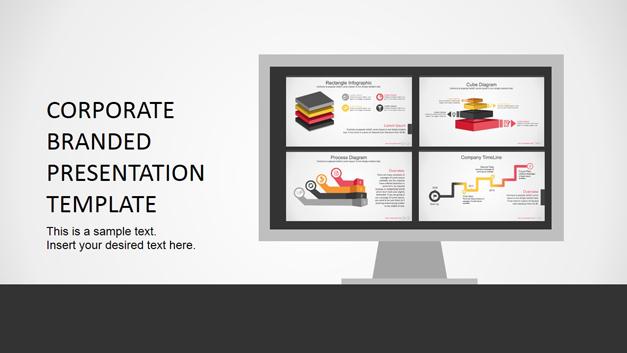 Branded corporate PowerPoint templates bundle