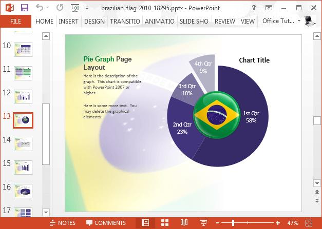 Brazil flag chart slide
