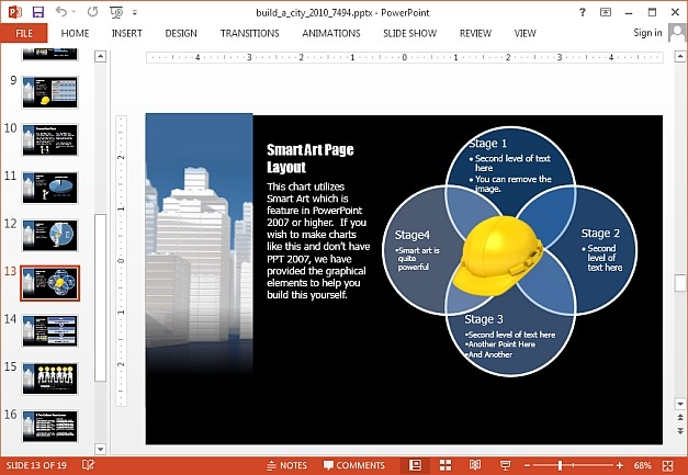 Build a city template for PowerPoint and Keynote