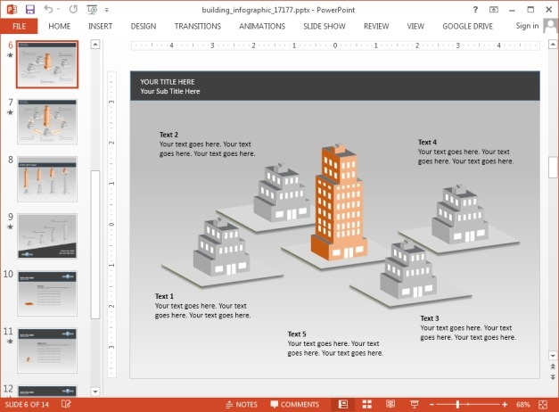 Building diagram for PowerPoint